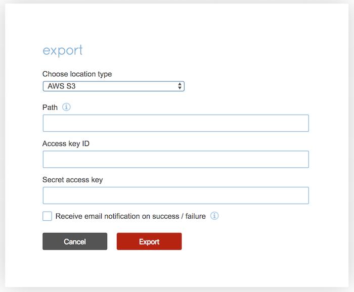 Export from Redis Enterprise to Amazon S3