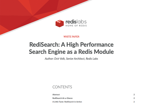 RediSearch: A High Performance Search Engine as a Redis Module
