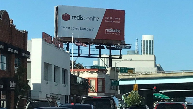 RedisConf 2017 Soma Billboard