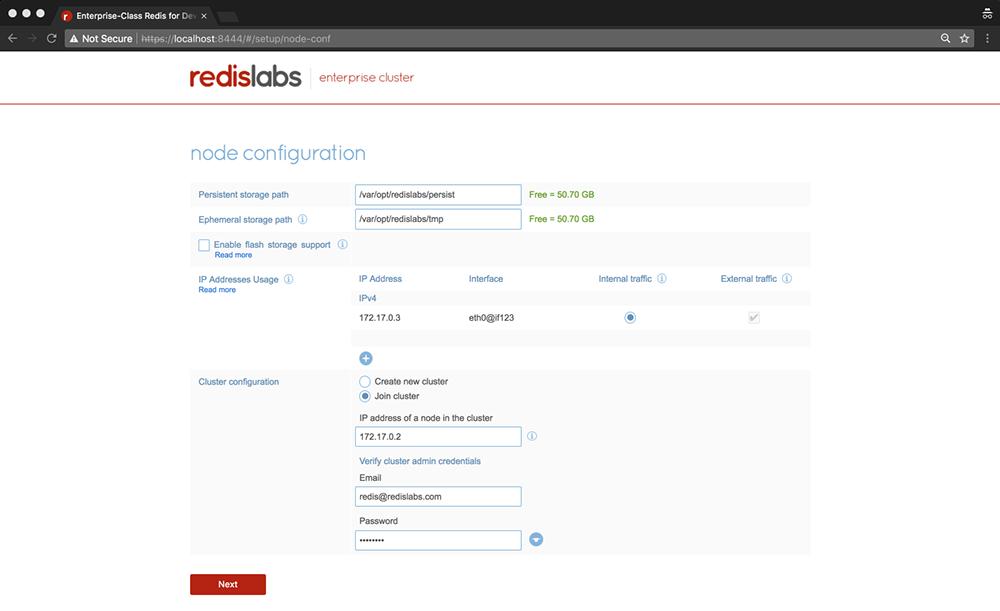 configure cluster node
