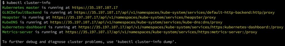GKE Cluster Info