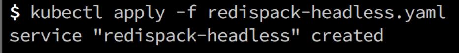 Redis Enterprise Kubernetes Headless Service