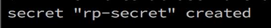 Redis Enterprise Kubernetes Secret