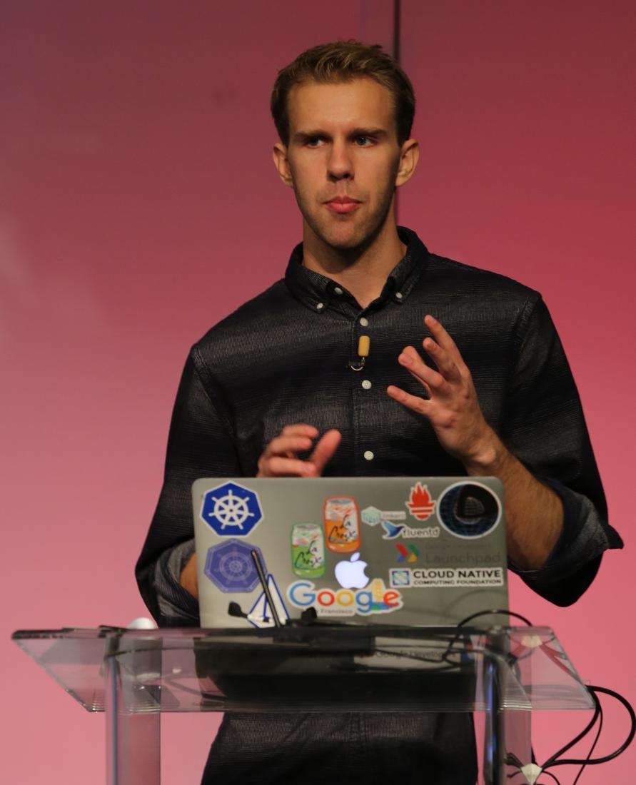 Matt Rickard of Google speaking on Kubernetes