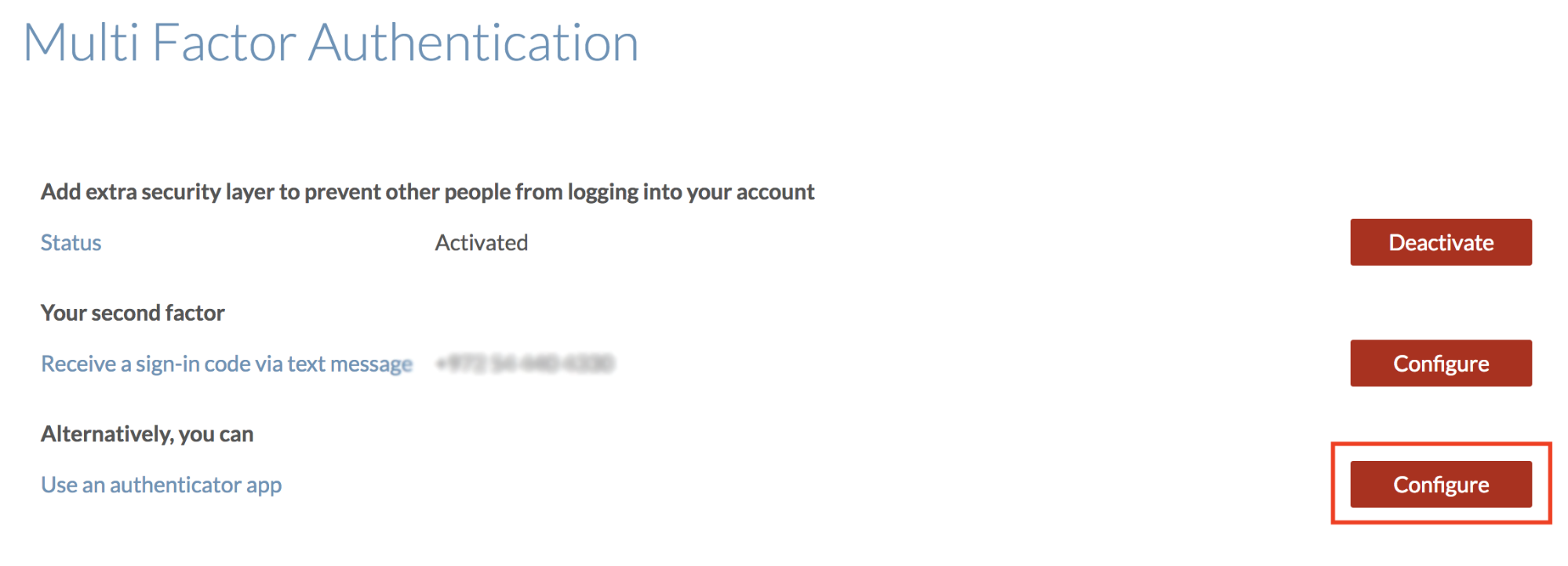 Google Authenticator Screen