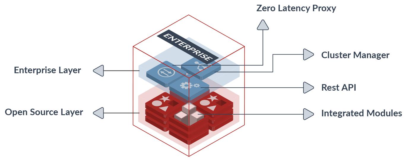 Redis Enterprise Cluster Components Diagram