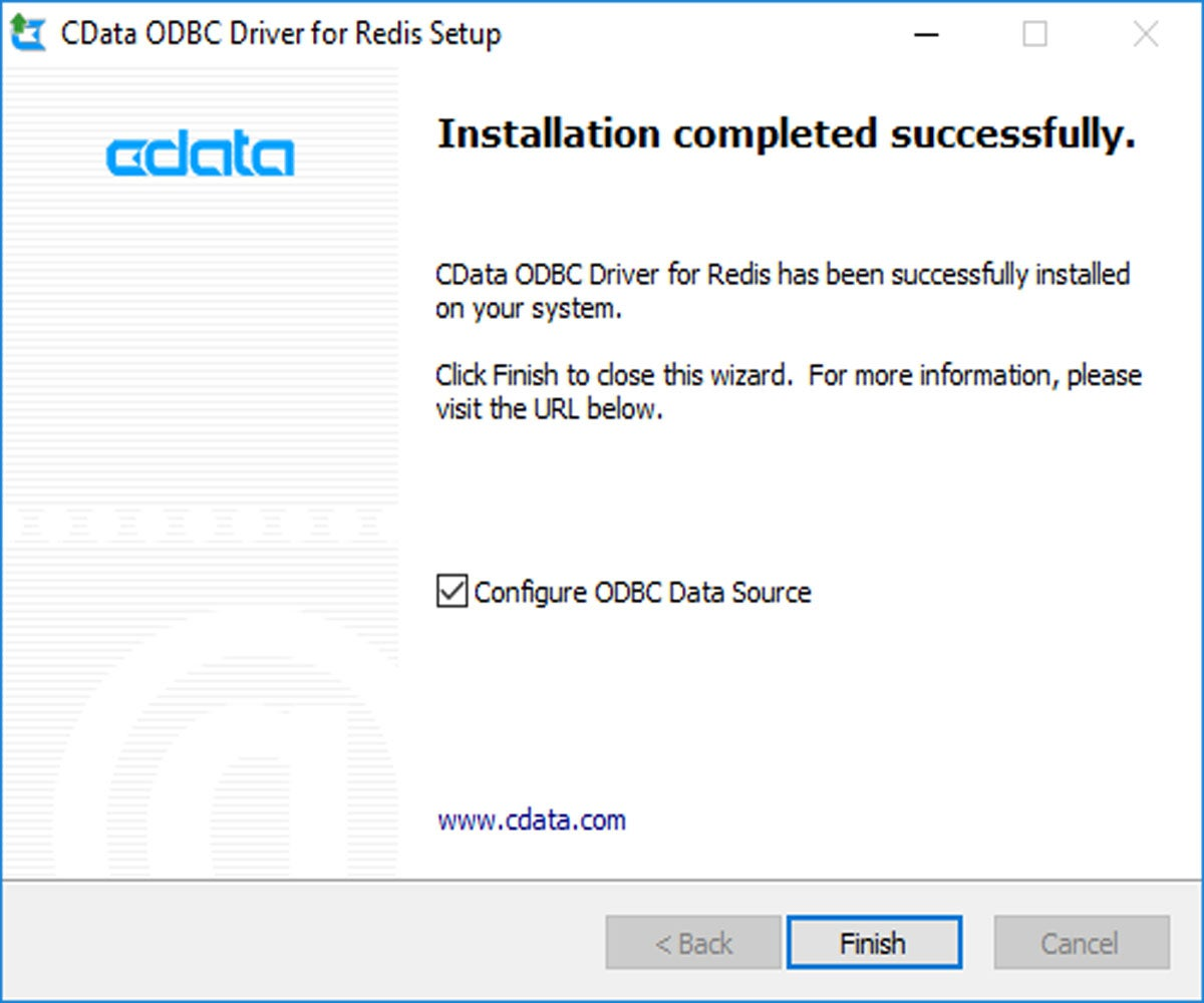 Running Redis on Windows with CDATA ODBC drive