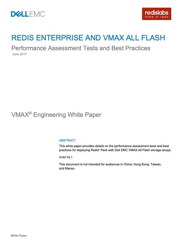 Redis Enterprise and VMAX All Flash
