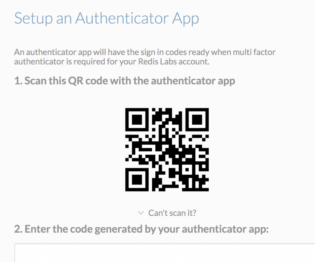 2 Factor Authentification