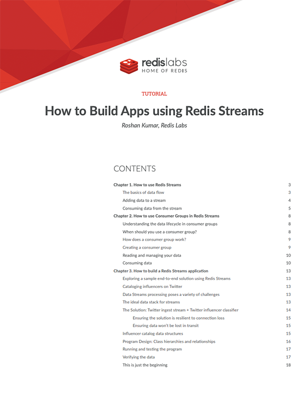 How to Build Apps using Redis Streams