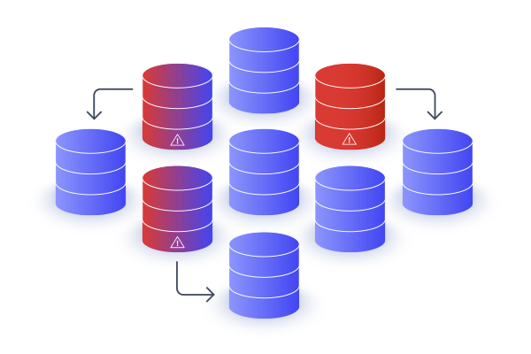 Multiple databases in a cluster indicating high availability