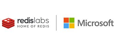 Redislabs and Microsoft logo