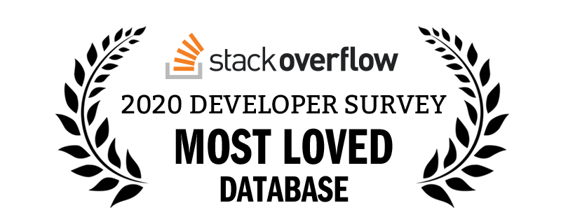 Award for most loved database from Stack Overflow