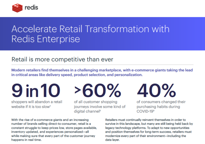 Accelerate Retail Transformation with Redis Enterprise