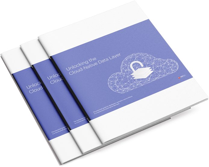 Three eBook covers for Unlocking the Cloud-Native Data Layer