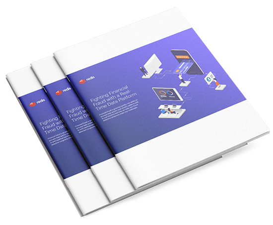 Three stacked white papers with the cover of Fighting Financial Fraud on a purple background
