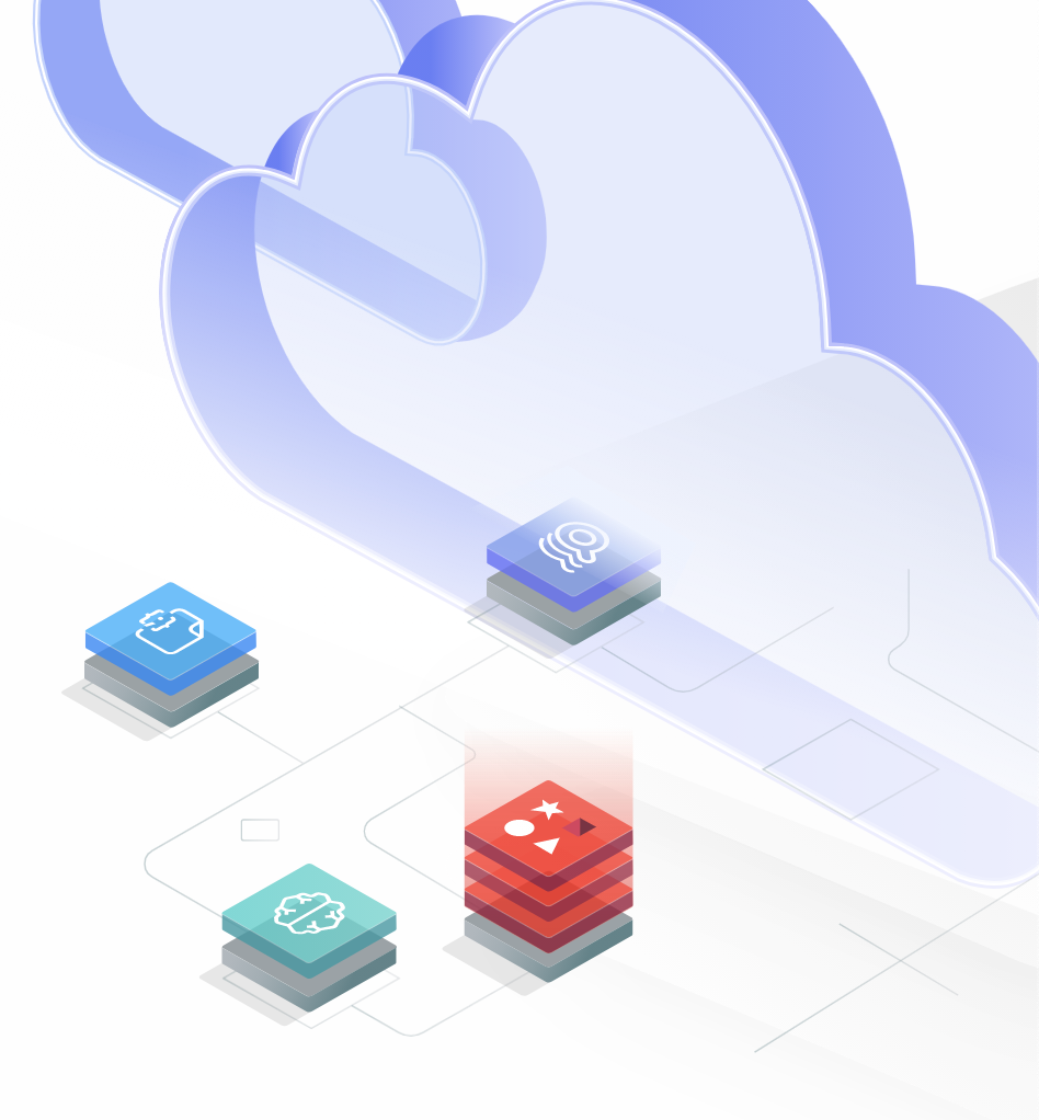 cloud graphic with squares
