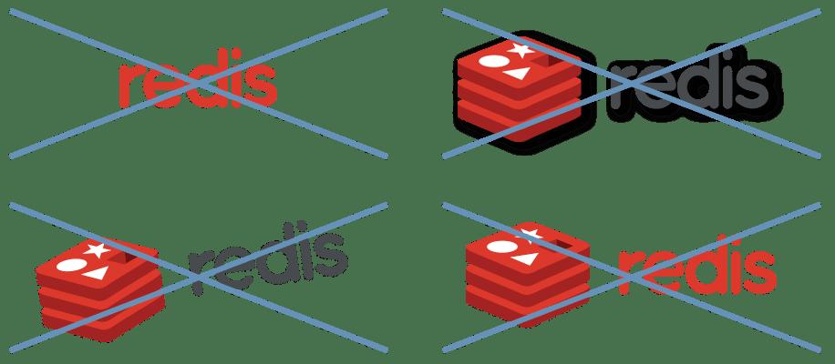 four redis logos crossed out