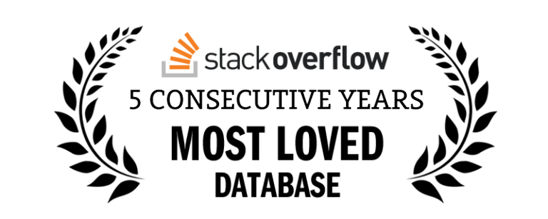 Stack Overflow 5 Consecutive Years Most Loved Database