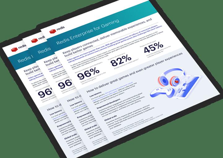 Redis Enterprise Database for Gaming Data Sheet