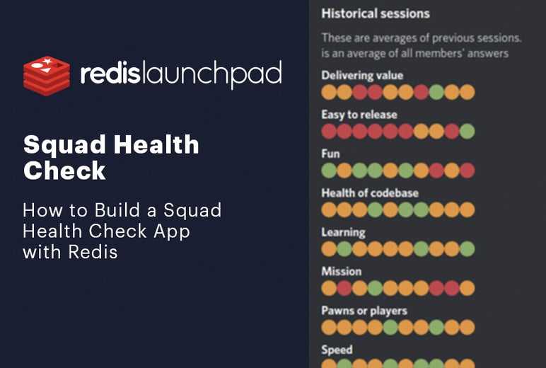 Redis Launchpad blog image - Squad Health Check